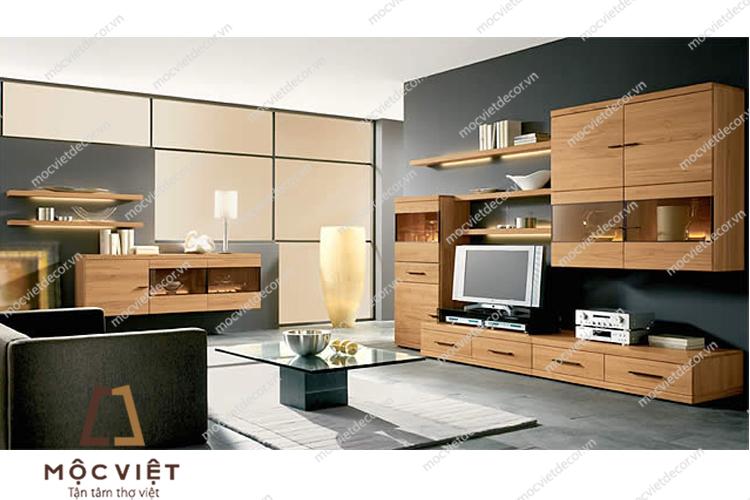 Kệ tivi gỗ công nghiệp giá rẻ KTV-020 dành cho người thích dùng kệ tivi để lưu trữ