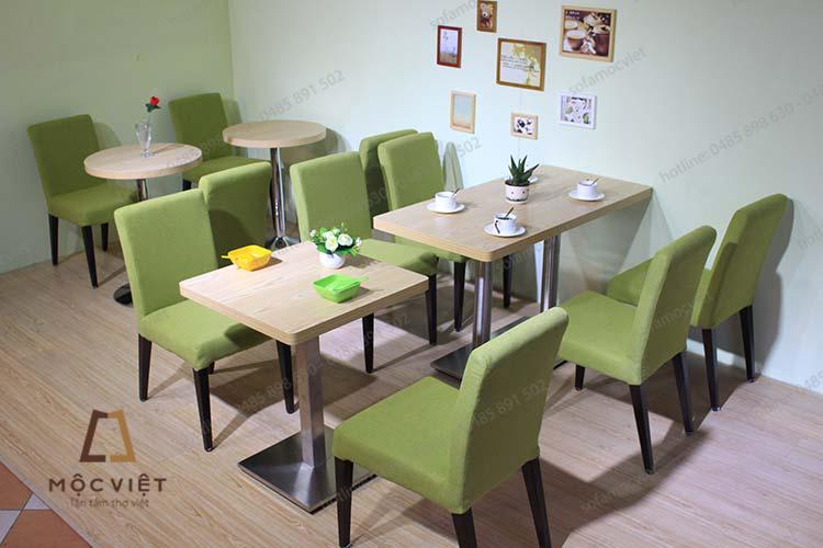 Bàn ghế sofa cafe nỉ đẹp MVSCF-011