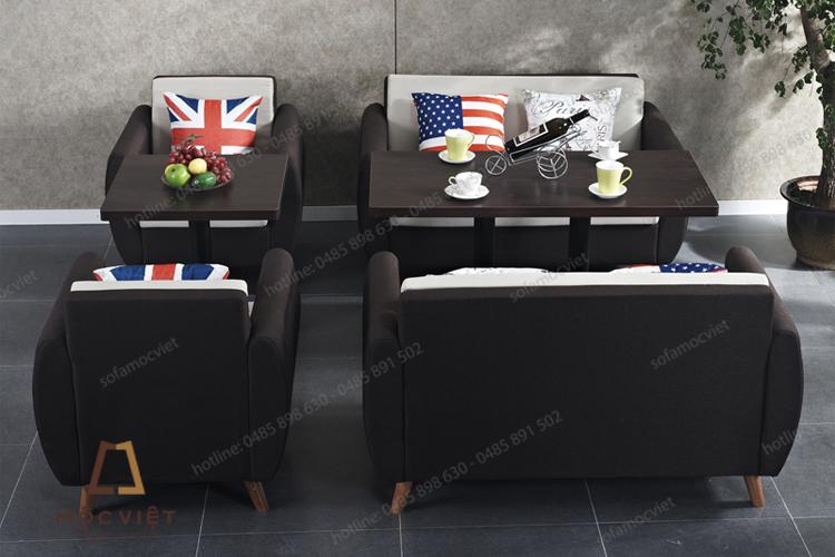 Ghế sofa cafe nỉ đẹp giá rẻ MVSCF-002