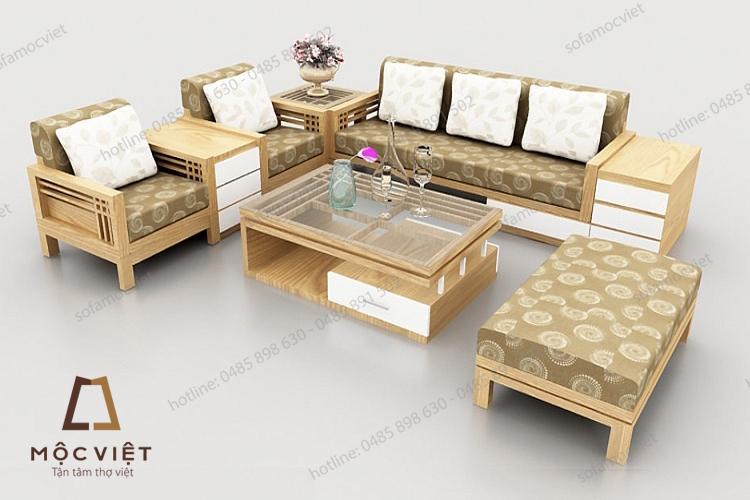 Ghế sofa gỗ đẹp MVSG-001