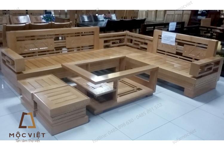 Ghế sofa gỗ đẹp MVSG-002