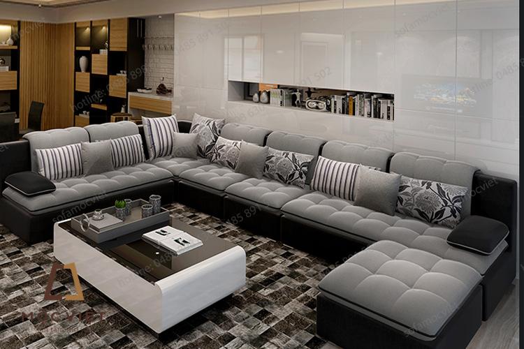 Mẫu sofa nỉ phòng khách đẹp nhất năm 2017