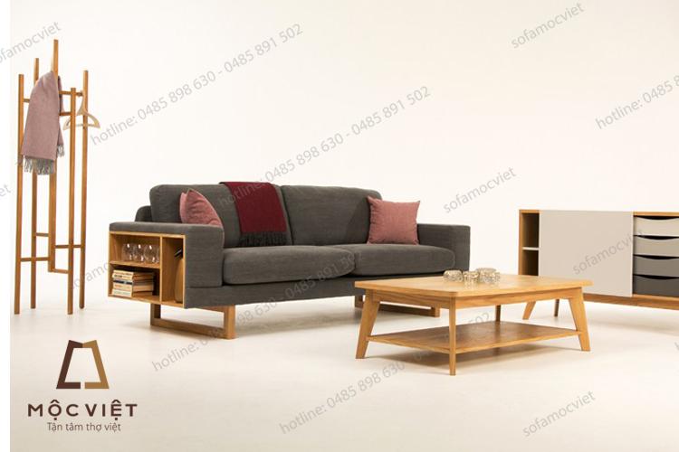 Ghế sofa nỉ gỗ đẹp hiện đại MVSN-026