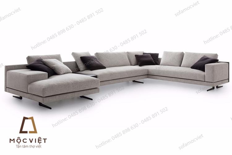 Bàn ghế sofa nỉ phòng khách bán chạy nhất năm 2017