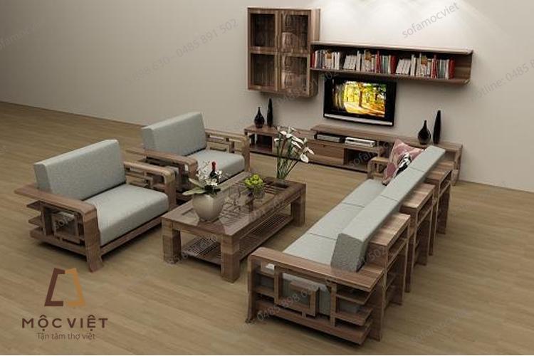 Sofa gỗ đẹp hiện đại MVSG-003
