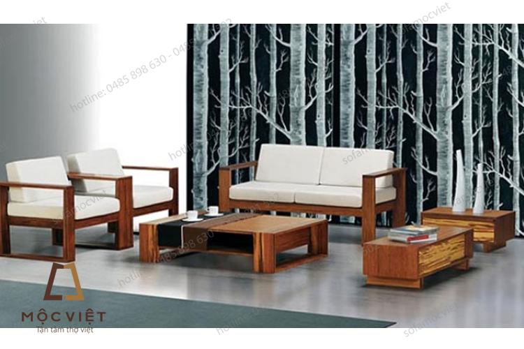 Sofa gỗ giá rẻ đơn giản MVSG-005