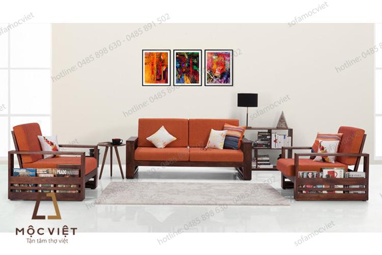 Sofa gỗ phòng khách đẹp MVSG-008